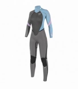 NEILPRYDE Neoprén Serene Back Zip Fullsuit 5/4/3 Sivá/Modrá/Ružová 4 (2017)