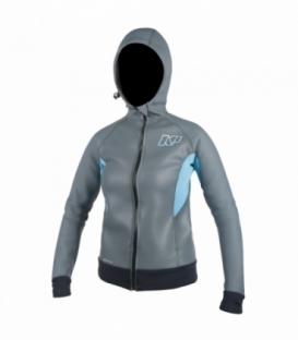 NEILPRYDE Neoprénová bunda Wms SUP Armor Skin Jacket Sivá/Modrá S (2017)