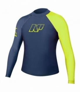 NEILPRYDE Lycra L/S Junior Rashguard Modrá/Žltá 12 (2017)
