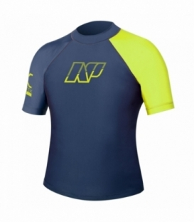 NEILPRYDE Lycra S/S Junior Rashguard Modrá/Žltá 14 (2017)
