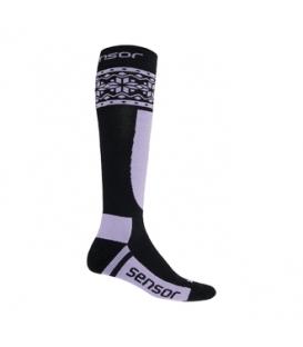 SENSOR ponožky THERMOSNOW NORWAY čierna/fialová 6 - 8