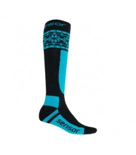 SENSOR ponožky THERMOSNOW NORWAY čierna/modrá 6 - 8