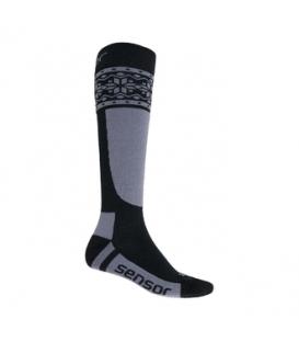 SENSOR ponožky THERMOSNOW NORWAY čierna/šedá 6 - 8