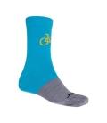 SENSOR ponožky TOUR MERINO WOOL modrá/šedá 9 - 11