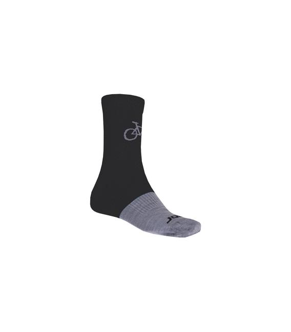 SENSOR ponožky TOUR MERINO WOOL čierna/šedá 6 - 8