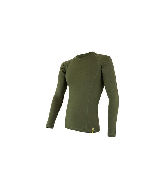 SENSOR termoprádlo MERINO DF pánske tričko dl. rukáv SAFARI - XL