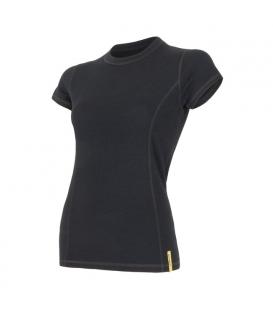 SENSOR termoprádlo MERINO DF dámske tričko kr.rukáv ČIERNA - XL