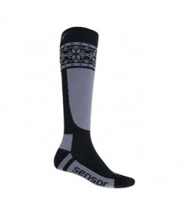 SENSOR ponožky THERMOSNOW NORWAY čierna/šedá 3 - 5