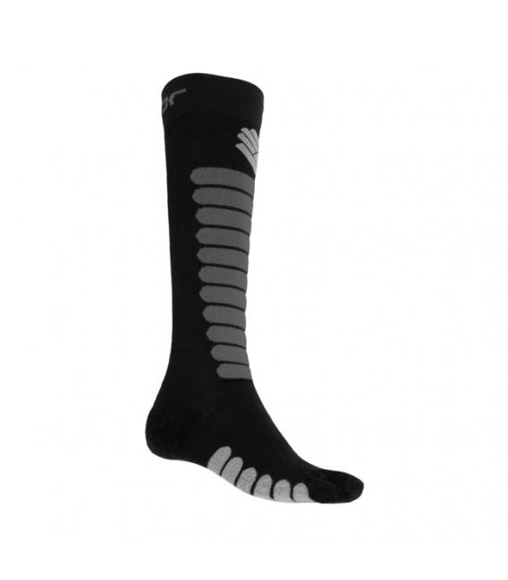 SENSOR ponožky ZERO MERINO čierna/šedá 6 - 8