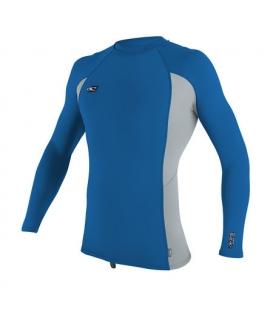 O'NEILL Lycra Premium Skins L/S Rash Guard Ocean/Cool Grey/Ocean - L