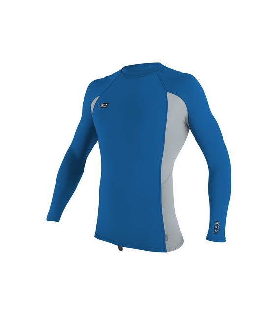 O'NEILL Lycra Premium Skins L/S Rash Guard Ocean/Cool Grey/Ocean - XL