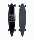 GOLDCOAST Longboard Classic Pintail Black