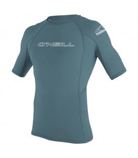 O'NEILL Lycra Basic Skins S/S Rash Guard Dusty Blue - XXL
