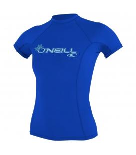O'NEILL Lycra WMS Basic Skins S/S Rash Guard Tahitian Blue - XS