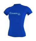 O'NEILL Lycra WMS Basic Skins S/S Rash Guard Tahitian Blue - L