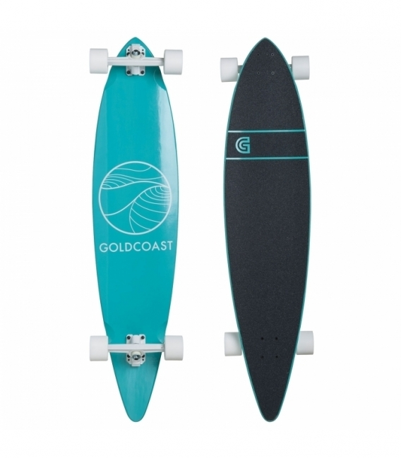 GOLDCOAST Longboard Classic Pintail Turquoise
