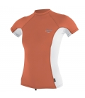 O'NEILL Lycra WMS Premium Skins S/S Rash Guard Coral Punch/White/Coral Punch - M