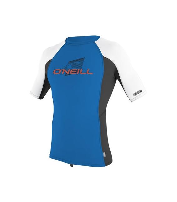 O'NEILL Lycra Youth Premium Skins S/S Rash Guard Turtle Ocean/Black/White - 14