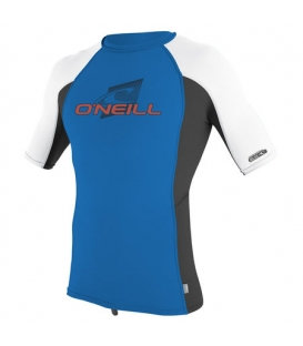 O'NEILL Lycra Youth Premium Skins S/S Rash Guard Turtle Ocean/Black/White - 14