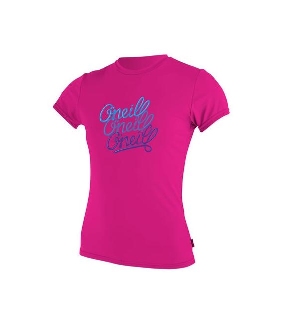 O'NEILL Lycra Girls Premium Skins S/S Sun Shirt Berry - 10