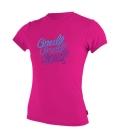 O'NEILL Lycra Girls Premium Skins S/S Sun Shirt Berry - 14