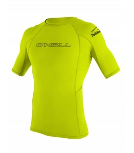 O'NEILL Lycra Basic Skins S/S Rash Guard Lime - XS