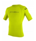 O'NEILL Lycra Basic Skins S/S Rash Guard Lime - S