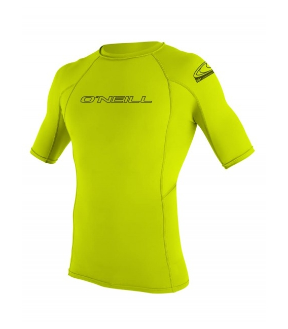 O'NEILL Lycra Basic Skins S/S Rash Guard Lime - XXL
