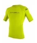 O'NEILL Lycra Basic Skins S/S Rash Guard Lime - XXL