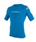 O'NEILL Lycra Youth Basic Skins S/S Rash Guard Brite Blue - 6