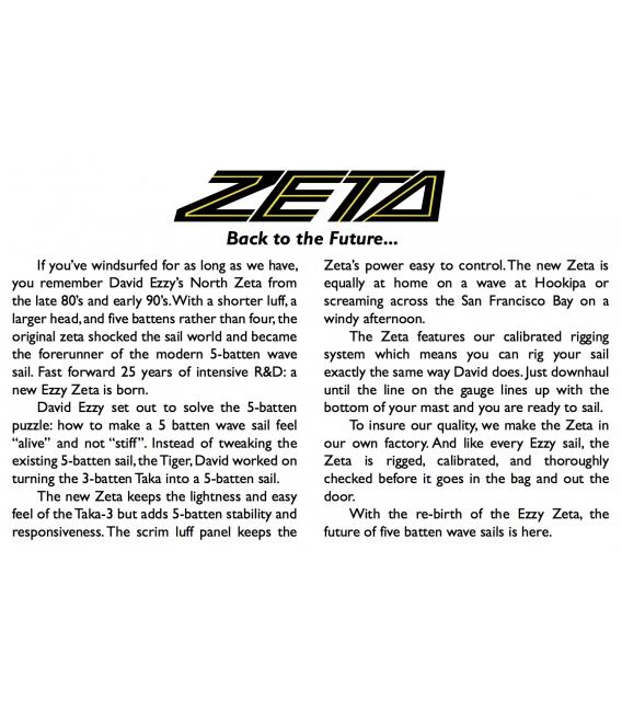 EZZY SAILS Plachta Zeta Blue 6.4 (2018)