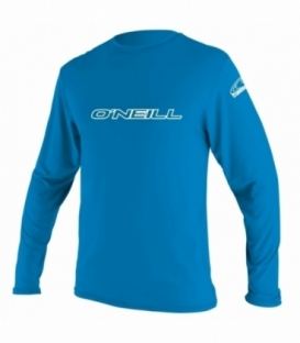 O'NEILL Lycra Youth Basic Skins L/S Rash Tee Brite Blue 12