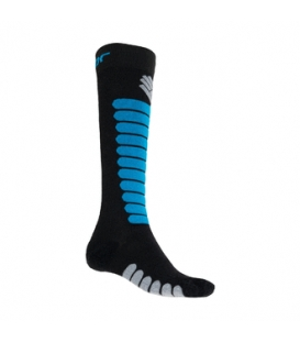 SENSOR ponožky ZERO MERINO čierna/modrá 6 - 8