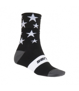 SENSOR ponožky STARS čierna/biela 9 - 11