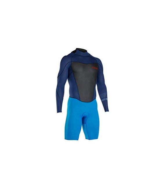 ION Neoprén FL Strike element shorty LS 2/2 BZ navy blue/bright blue M
