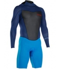 ION Neoprén FL Strike element shorty LS 2/2 BZ navy blue/bright blue S