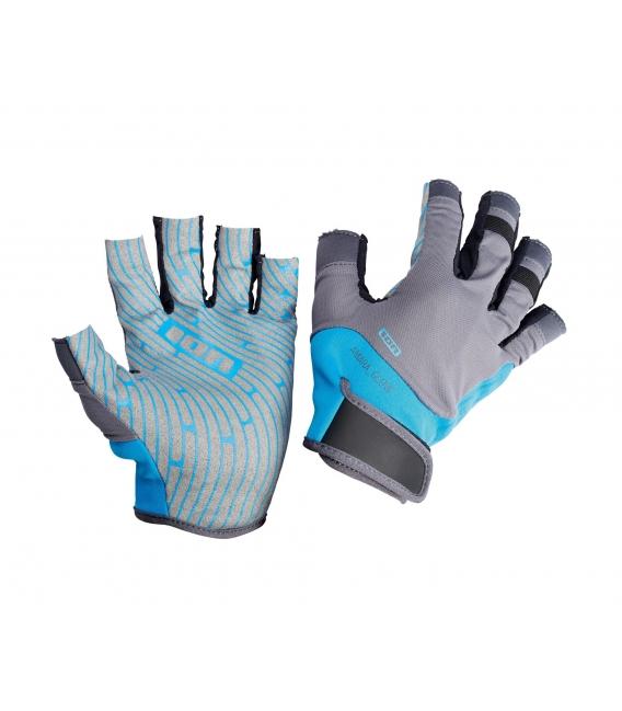 ION Neoprénové Rukavice Amara Gloves Half Finger blue/grey S