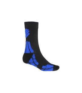 SENSOR Ponožky Hiking Merino Wool ČIERNA/RUŽOVÁ - 6-8