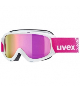UVEX Okuliare Slider FM White / Mirror Pink S3 double lens