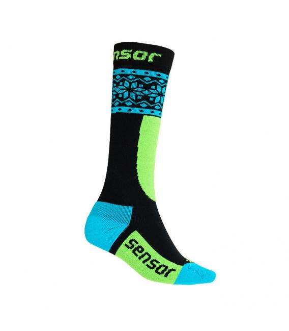 SENSOR ponožky THERMOSNOW DOTS čierna 3 - 5