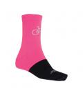 SENSOR ponožky TOUR MERINO WOOL ružová/šedá 3 - 5