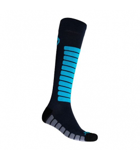 SENSOR ponožky ZERO MERINO čierna/modrá 9 - 11