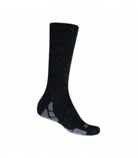 SENSOR Ponožky Hiking Merino čierna/šedá 9 - 11