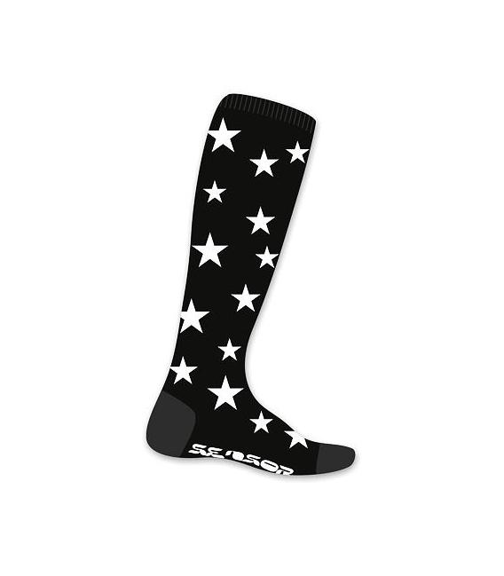 SENSOR ponožky Thermosnow Stars čierna 3 - 5