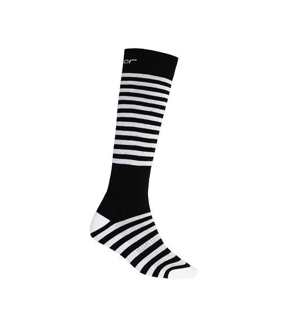 SENSOR ponožky Thermosnow Stripes čierna 6 - 8