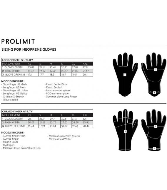 PROLIMIT Neoprénové Rukavice Curved Finger Utility Black/Orange 3mm - M