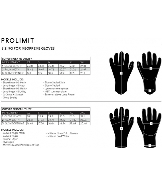 PROLIMIT Neoprénové Rukavice Q-Glove X-Stretch 3mm - XL/XXL