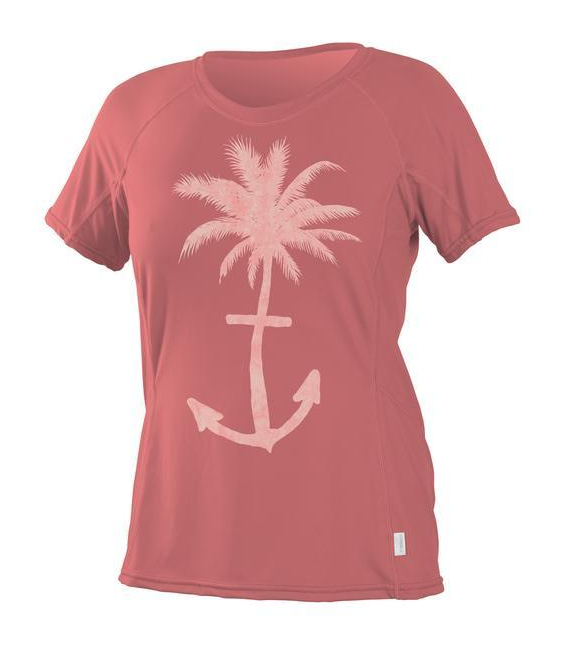 O'NEILL Lycra Wms Graphic S/S Rash Coral M