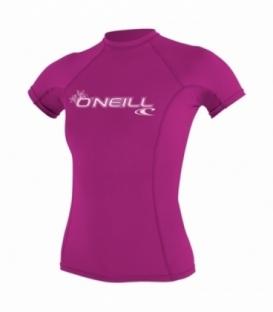 O'NEILL Lycra WMS Basic Skins S/S FOX PINK - S