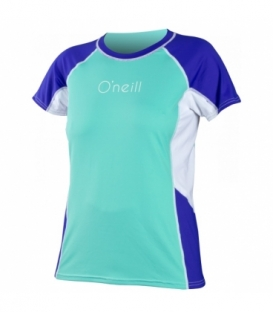 O'NEILL Lycra WMS Color Block S/S Rash Tee SPYGLS/COBLT/WHT - L